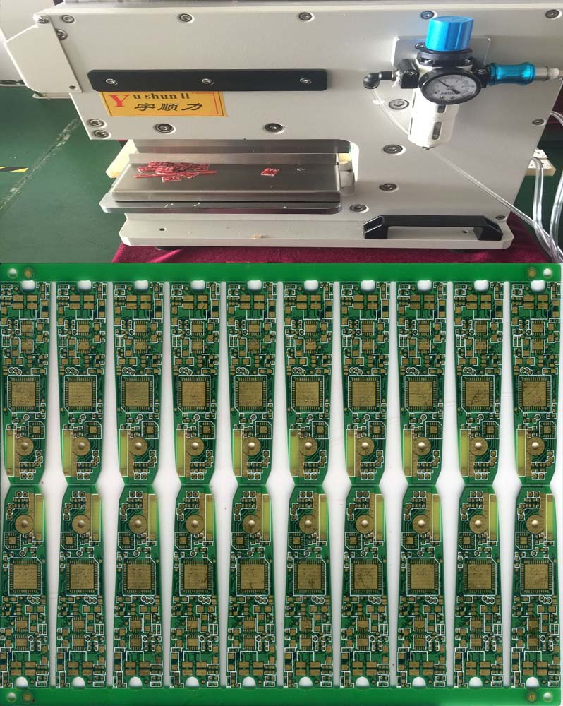 PCB Separator buy Pcb V Cut Machine With Pneumatically Driven / Electromagnetic Valve Control