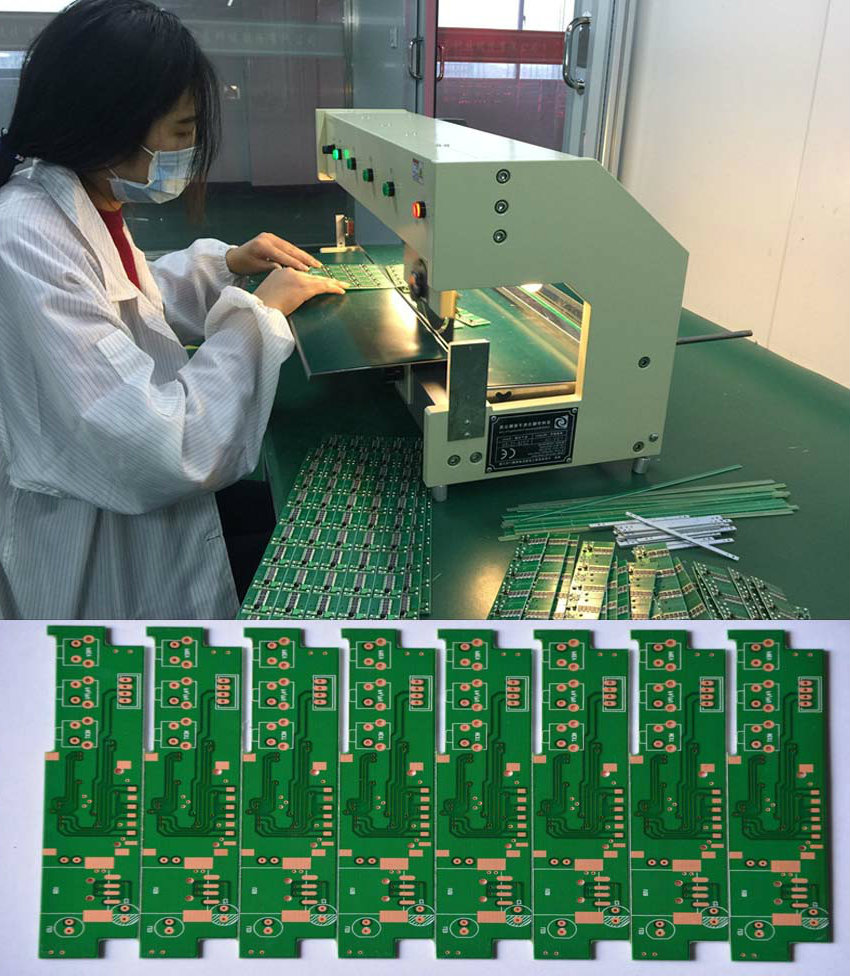 Linear Blade V-Cut Pcb Depanelizer Machine Cutting Thick Board