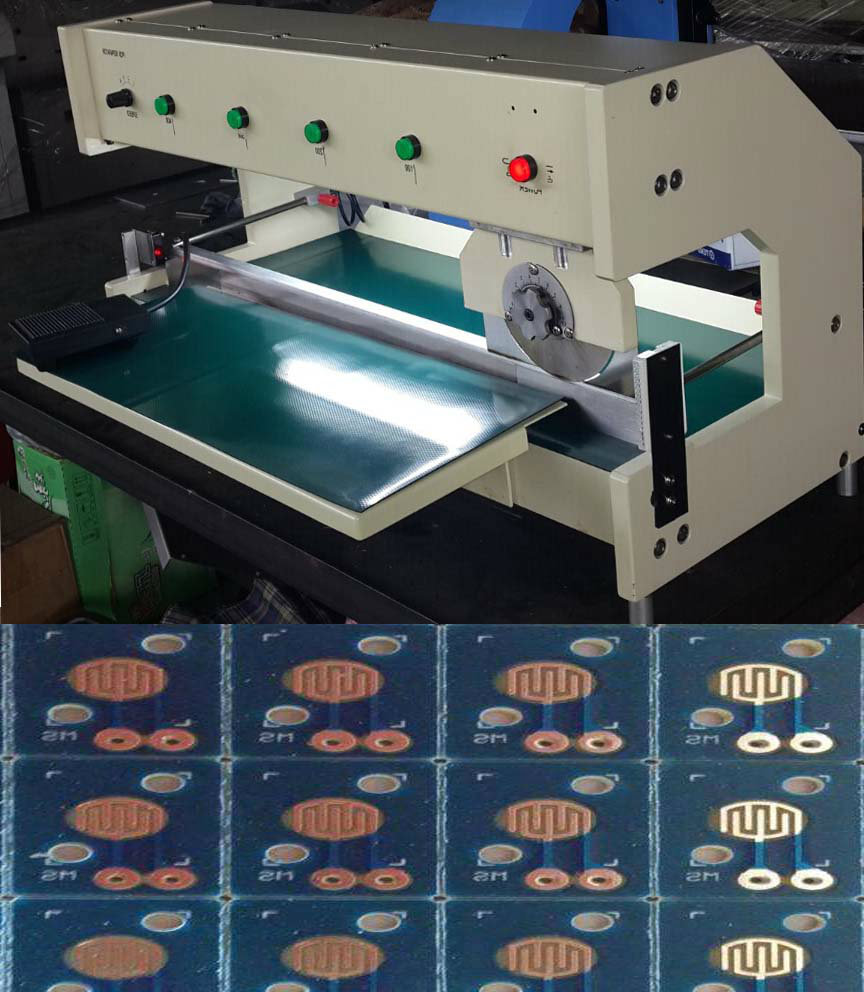 Pneumatically Driven Pcb Separator Machine With Two Linear Blades Manufacturer